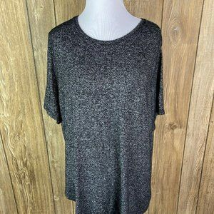 Old Navy Womens Luxe Black Heather Blouse Shirt Si